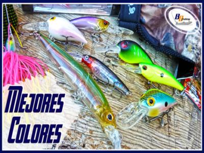 señuelos de pesca y colores